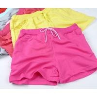 2015 New Women summer shorts elastic waist flat front cotton & polyester casual sports shorts beach hot shorts,SB503