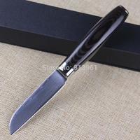 Janpanese Damascus Knife Stainless Steel Blade Kitchen Knife Micarta Handle Peeling Knife 3.5 inch Paring Knife FREE SHIPPING
