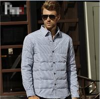 UDOD Winter Brand Men Down Shirt Winter Parka Men Down Duck Coat 70% White Down Warm Shirt M L XL XXL XXXL EB801