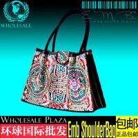 port of national single shoulder bag embroidered single shoulder bag ethnic bags wholesale folk style embroidery handbag