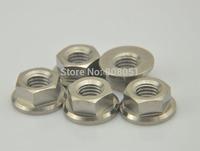 Original Titanium Gr5 M8 DIN 6923 Pro Flange Nut for Bolt Screw Fastener Washer free shipping