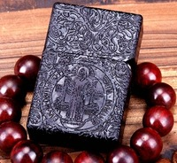 Wholesale balck Ebony  wooden hand-carved Constantine  Father version Crafts men brand  lighters