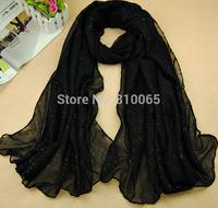 Bronzing Muslim headscarf Women cotton voile long silk scarf Lady Beach Shawl Turban towel Wrap Scarf 180*90cm 19 colors