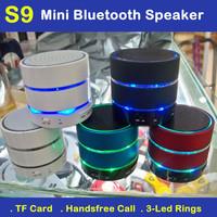 Hot Sale S11 Bluetooth Speaker Mini Portale Wireless HiFi Speakers 3-LED-Rings TF Card Bass Handsfree for iPhone Samsung HTC