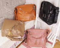 2015 new fashion retro classic tassel chain shoulder bag diagonal dual rear dual handbags free ship