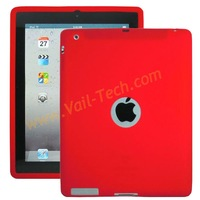 Free Shipping Plain Silicone Case for ipad 2,3,4 ,soft case for ipad