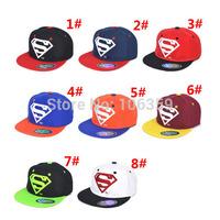 New Baby Boys Girls Snapback Hats Caps Baseball Cap Kids Children Superman Hats 3-10 Years 8 Colors Retail SW020