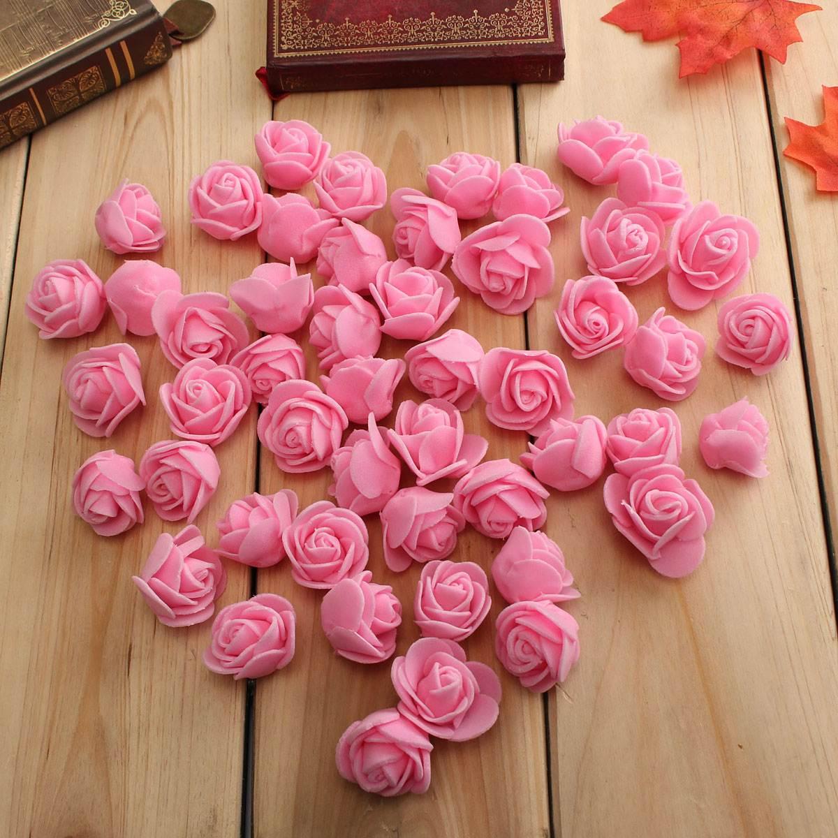 Wholesale Price 50 PCS/Bag PE Foam Rose Flower Head Handmade DIY Wedding Home Decoration Top Grade(China (Mainland))