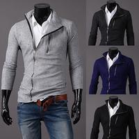 New Spring  Fashion Design Men Jacket 4 Colors Solid Slim Men Jacket Coat  Turn-down Collar  Freeshping Size M-XXL PPY13