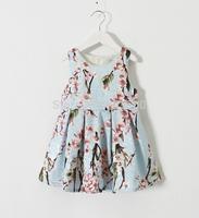 2015 New Summer Cotton Dazzel Flower Dress For Baby Girls 6 pcs/lot,Wholesale
