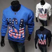 Freeshiping New Fashion Design   Men's long Sleeve shirts letter 3 Colors Slim Shirt For Man Size M-XXL PW65