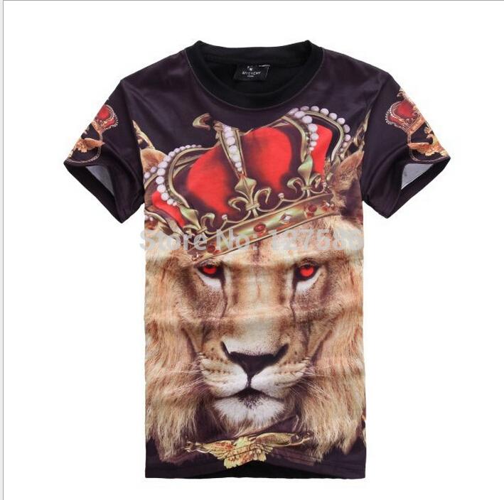 3d Print T Shirt Hip Hop V 3d Lion Print Hip Hop T