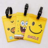 SpongeBob SquarePants cartoon mix proof portable travel  checked baggage card ID card sleeving