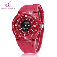 Brand Watch Round Dial Fashion Silicone Watch Men Sports Quartz Wristwatches Wholesale