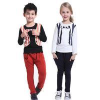 Children's clothing sets boys set sport suit for Spring stripe girls clothing Kids Clothes baby clothing conjunto menina HB095