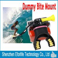 New 2015 Go pro Mouth Mount Surfing Diving Selfie Shoot Set Surf Dummy Bite for GoPro Hero 4 3 3+ Cameras