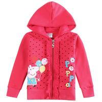Peppa pig girls outerwear coats children outerwear coats jackets coats cartoon flowers baby girls autumn clothing jaqueta HC075