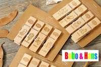 New 4 pcs/set simple life image style clip set / wooden clip peg / Fashion /Wholesale