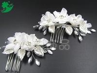 Taiwan Andy Mina new bride headdress handmade alloy leaf hair comb comb wholesale
