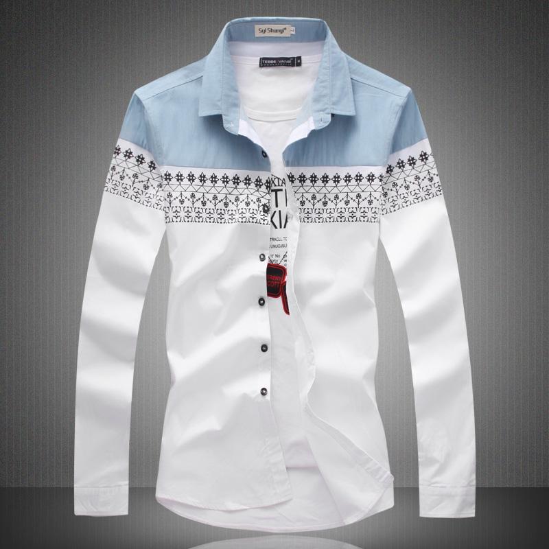 Мужская повседневная рубашка Other 2015 Slim Fit Camisas 2 6000 мужская повседневная рубашка other 2015 slim fit yd g812 anchors