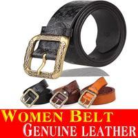 2015 New Women Belt Guarantee Genuine Leather vintage Palace Style belt for women Retro Embossing