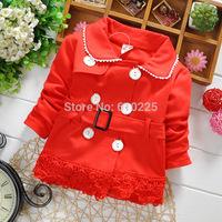 New 2015 Children Spring Clothing Girls Coat Lace Baby Girls Outerwear Children Top Wear Kids New Jacket