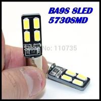 2015 NEWS !! Free shipping 100PCS/lot Car Auto LED ba9s 194 W5W Canbus 8smd 5630 5730 LED Light Bulb No error led light