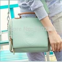 2015 RAXH New South Korea Female Bag Double Zipper Crown Bag Fashion Retro handbag women bag