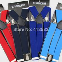 BD028--3.5cm width Men's Suspenders Fashion Multicolor Adjustable elastic band suspenders Women cloths accessories 5pcs/lot