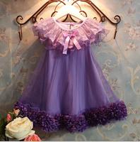 Free shipping - blasting models Summer dress Han edition product posed rose princess dress sleeveless Girls dress