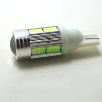 50Pcs White Car DC12V T10 194/168 Wedge 10-SMD 5630 LED Light Bulb With Lens #J-1765