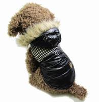 Black Coffee New Dog Pet Warm Windbreaker Winter Jacket Coats Small Dogs Clothes S M L XL