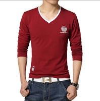 S-5XL/ New Man camisetas masculinas T-shirt Men pullovers T shirts Summer shirts 2015 Men brand mens slim long sleeve t-shirts