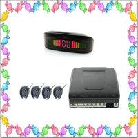 HOT OEM Parking Sensors Rear Electromagnetic Parking Sensor With LED Display 12V 4 Sensors System Radar Car Detector Parktronic