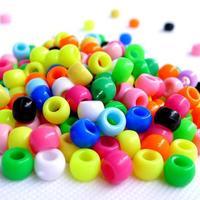 100pc Colorful rainbow crystal beads necklace chain choker jewellery bracelet beading pearl big hole acrylic beads Free Shipping