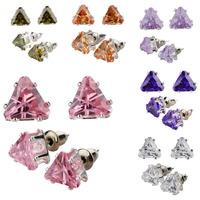 Wholesale Fashion Jewelry Earring Zircon Silver Earrings SWA Elements Austrian Crystal Triangle Rhinestone Earrings For Women