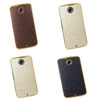 Luxury Football Grid Metal plating aluminium hard case cover For Motorola Google Nexus 6 HC_Nexus6_FootballLeadthCaseGB