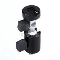"360 Degree Swivel Flash Hot Shoe Support Mount  C Bracket Umbrella Holder for 1/4""  3/8""  Tripod Light Stand"
