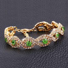 New Design hot sale Fashion Luxury Colorful gem Shiny rhinestones Cross Bracelet Statement jewelry Wholesale for