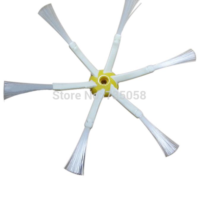 2015 venda quente 6 armado escova lateral para iRobot Roomba 500 600 700 aspiradores com 3 peças parafuso para iRobot Roomba E3376 P(China (Mainland))