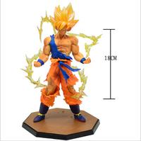 Free Shipping! New Dragon ball z figure bandai Super Saiyan Goku PVC Action Figure Model Collection Toy Gift vegeta dragonball z