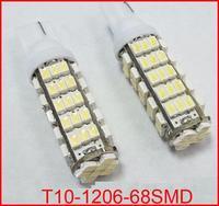 100pcs/lot 168 192 W5W T10 DC12V White T10 68LED 68smd 1206/3020 68 SMD LED Car Auto Bulbs LED Signal Lights white super bright