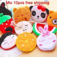 4inch Cute Plush Portable Cartoon Change / Coin Purses Case Bag 20 Patterns Available