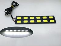 Wholesale 20pcs 18W COB High power led ultra-thin waterproof DRL Day time Running fog light white daytime running lights