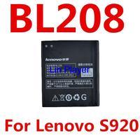 Original Brand New BL208 2250 mAh Rechageable Phone Battery For Lenovo Phone S920 Free Shipping