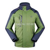 2015 Men Autumn & Spring Waterproof Coat Camping Hiking Jacket Climbing Men's Outdoor Sports Jacket & Coats Size