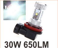 2pcs H8 30W High Power Ultra Bright CREE LED Car Foglamp Fog Light 650LM White New Arrival Wholesale Vehicle Lighting Bulb