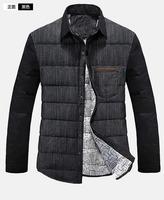 UDOD Winter Brand Men Down Shirt Winter Parka Men Down Duck Coat 90% White Down Warm Shirt M L XL XXL XXXL EBYR002
