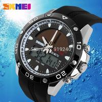 Free shipping 2015 fashion casual Men's watch Waterproof Luminous Outdoor Solar Motion Electronic Wristwatches 3 colors --hgt