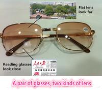 [!!!TWO pairs!!!]full rim bifocal Brown lens At near or far men women reading glasses+1.00+1.50+2.00 +2.50+3.00+3.50+4.00